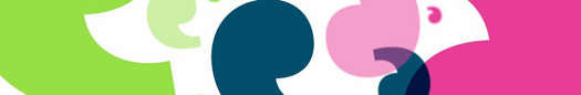 Block of Healthwatch quote marks in different colours