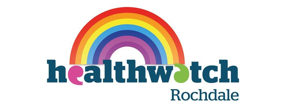 Healthwatch Rochdale Rainbow logo