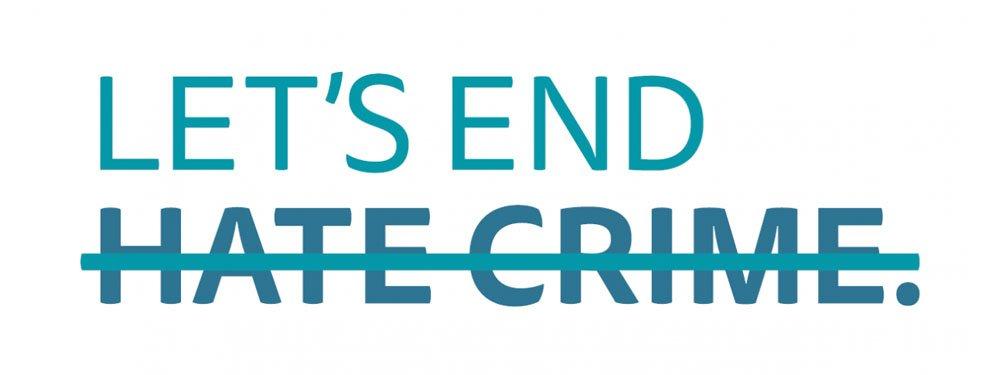 Let's end hate crime logo