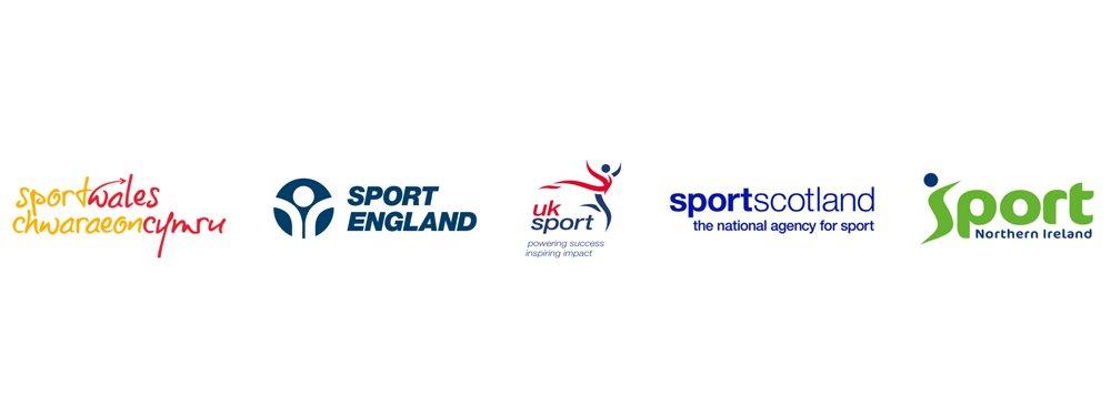 UK Sport, Sport England, Sport Wales, sportscotland and Sport Northern Ireland logos
