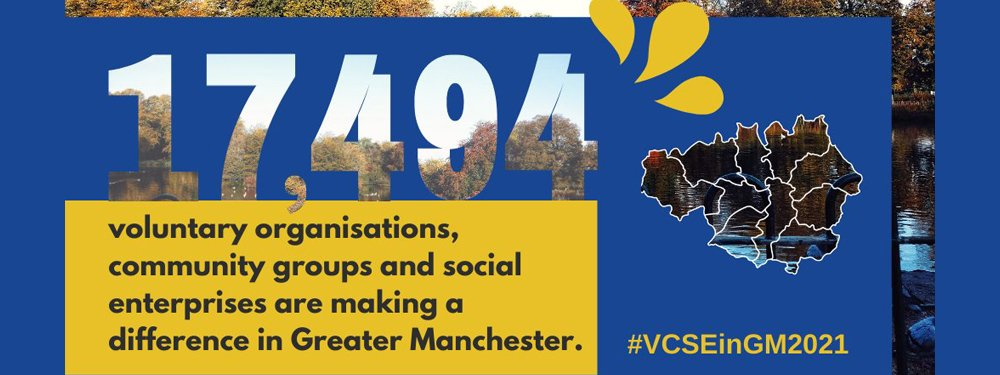 There are 17,494 voluntary organisations, community groups and social enterprises making a difference in Greater Manchester