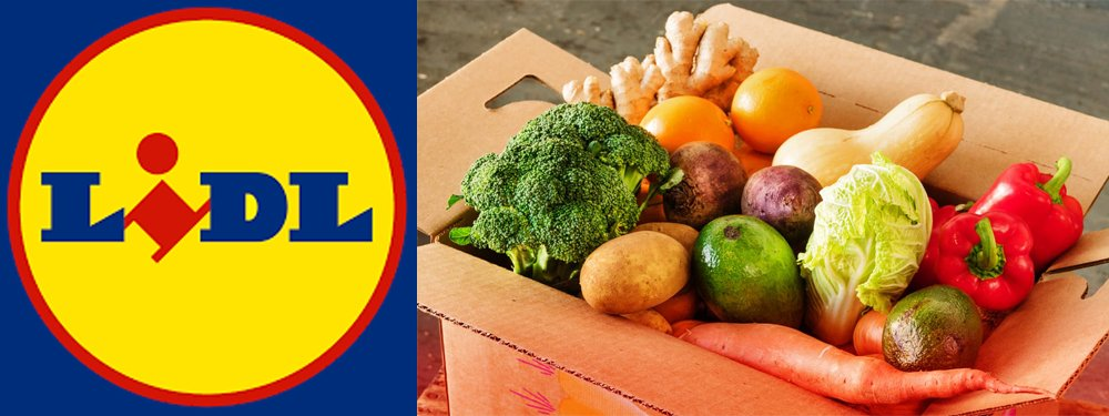 Lidl logo and veg