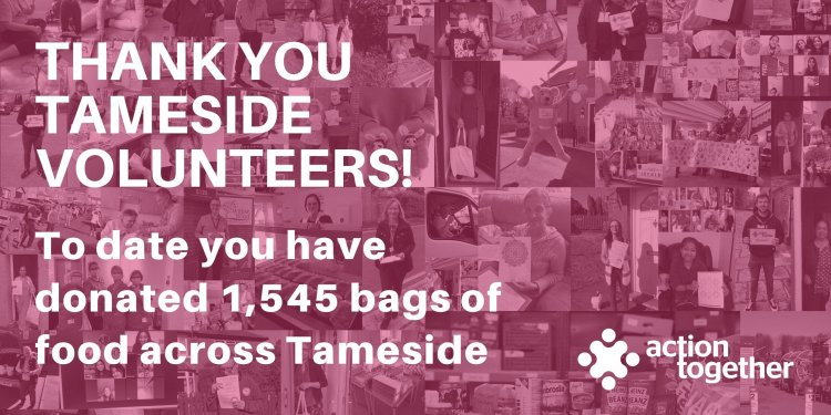 Tameside Volunteers collect 1,545 food donations