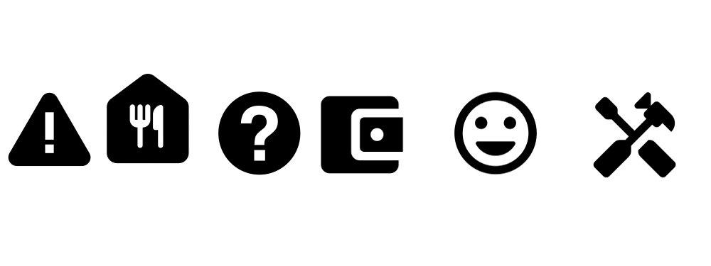 Economic support icons