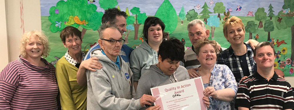 OPAL receiving the Quality in Action Award