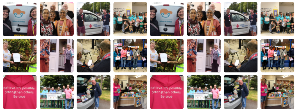 Pictures of community action - people volunteering, running community activities and more