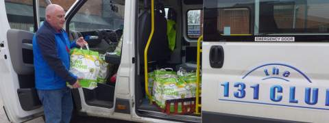 Delivering food parcels