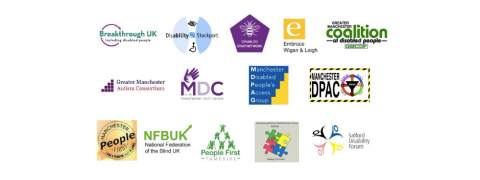 Disability report logos