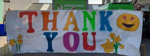 Emmaus Mossley say thank you