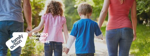 Family Action - Building stronger families. A family holding hands
