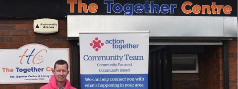 Jonathan King, Action Together Development worker at the Together Centre
