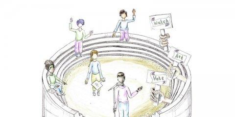 Watch Act Vote Legislative Theatre graphic