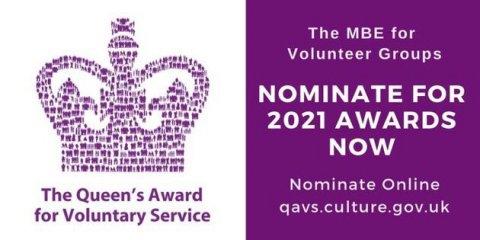 Queens Award for Voluntary Service Logo