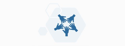 Greater Manchester, Ethnic Minority Experiences of Caring Research Report - blue hands reaching in a circle